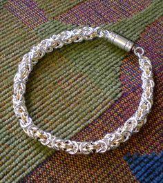 Byzantine Chainmaille Gold Silver Bracelet