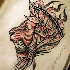 60 Ideas For Tattoo Lion Traditional Tigers Lion Head Tattoos, Mens Lion Tattoo, Leo Tattoos, Animal Tattoos, Sleeve Tattoos, Tattoos For Guys, Tatoos, Leo Tattoo Designs, Crown Tattoo Design