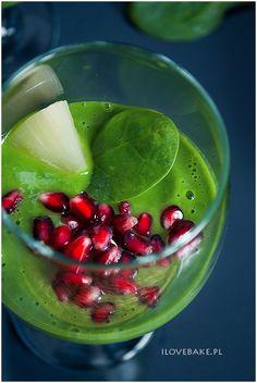 koktajl-ze-szpinakiem Fruit Salad, Smoothie, Healthy, Pineapple, Fruit Salads, Smoothies, Health