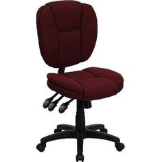 Fabric Multi-Function Task Chair, Multiple Colors, Red