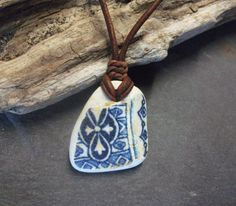 Sea Pottery Necklace Seaglass SurfersUnisex by byNaturesDesign, $12.00