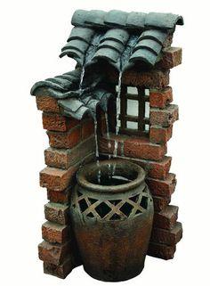 "33"" Spanish Tile Fountain at Menards"
