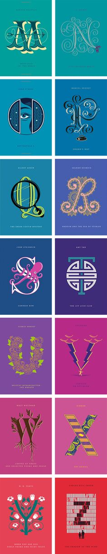 Ilustraciones de letras del alfabeto (2). Especial comienzo párrafo en literatura #Diseño #DiseñoGráfico