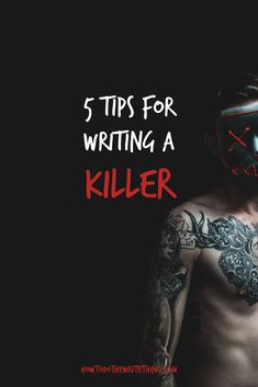How to write a killer in your stories. Inspiration for better creative writing. Writing tips for better writing. Writing Genres, Book Writing Tips, Writing Characters, Cool Writing, Fiction Writing, Writing Help, Character Prompts, Creative Writing, Writing Prompts