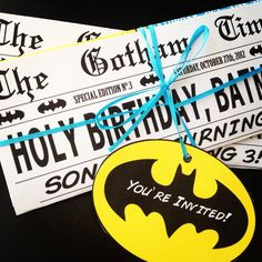 Batman Party Supplies Archives - Batman Party - Ideas of Batman Party - Batman Superhero Birthday Party Newspaper Invitation Batman Party Ideas of Batman Party Batman Superhero Birthday Party Newspaper Invitation Batman Birthday, Superhero Birthday Party, 4th Birthday Parties, Boy Birthday, Birthday Ideas, Batman Party Supplies, Childrens Party, Lego, First Birthdays