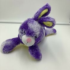 Animal Adventure Purple Easter Bunny Rabbit Plush Yellow White Soft Toy 2017 #AnimalAdventure