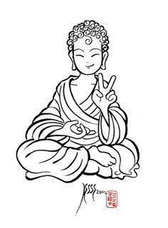 Little Buddha Art With Images Buddha Drawing Buddhism
