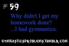 GYMNASTICS PROBLEMS....yup that's the excuse Jessalynn uses lol