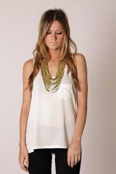 Esther Boutique - hudson singlet- beige