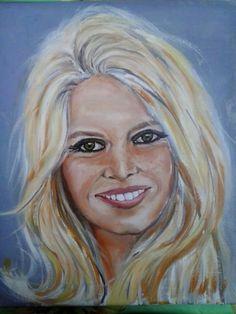 """Brigitte"" oil on canvas 25x30cm painted by Ariela Salcini"