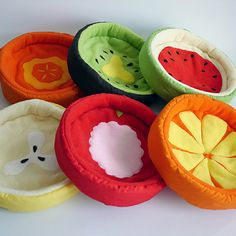 Fruit and Veggie Pet Beds by The Cosy Hut on Etsy See our 'pets' tag Cute Baby Dogs, Cute Babies, Hamsters, Salem Cat, Hedgehog Bedding, Guinea Pig Accessories, Toy Kitchen Set, Pet Furniture, Pet Beds