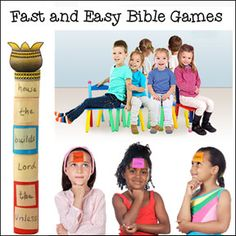 Fast and Easy Bible Games for Children's Ministry, Children's Church, and Sunday School from www.daniellesplace.com