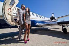 Real Engagements {Atlanta}: Quiana & Anthony's Jet-Setter Photo Shoot! - Blackbride.com