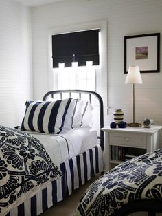 Roll up shades Beach Style Bedroom by Tom Stringer Design Partners
