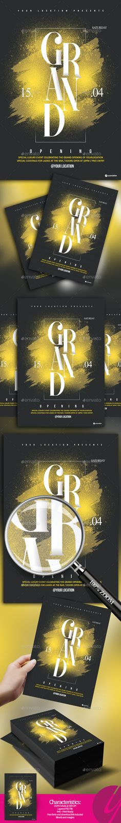 Grand Opening Flyer — Photoshop PSD #flyer • Download ➝ https://graphicriver.net/item/grand-opening-flyer/19711244?ref=pxcr
