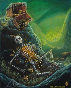 Pirate Skeleton Lowbrow Pop Art Print Fantasy Underwater Mermaids  buy it now on eBay Pirate Skull Tattoos, Pirate Ship Tattoos, Pirate Tattoo, Underwater Tattoo, Underwater Drawing, Pirate Skeleton, Pirate Art, Pirate Ships, Shipwreck Tattoo