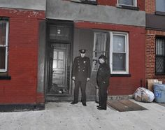 Vintage Crime Scene Photos Superimposed on Modern NY Streets.  427 1/2 Hicks St. Brooklyn, N.Y. Gangster Salvatore Santoro met his end in the vestibule of 427 1/2 Hicks St. on Jan. 31, 1957. Here's how the building looks then and now.