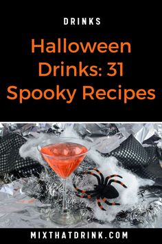 Our collection of Halloween drinks, with spooky cocktails and tips to make them look scary! These Halloween drink recipes will make your evening special.