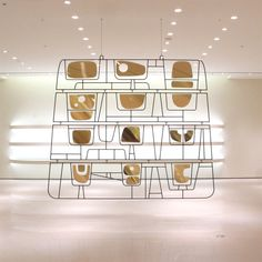 jean-paul philippé / steel and brass room divider