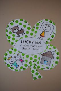 cute idea.  draw pictures of what you feel lucky to have.