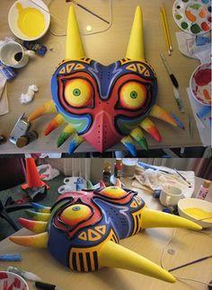 gorgeous Costume by abellabella. Skull Kid's Majora's Mask, via Cosplay.com