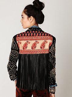 Novella Royale Studded Fringe Blazer at Free People Clothing Boutique - StyleSays