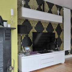 Above-TV storage | Small living room ideas | Living room | PHOTO GALLERY | Style at Home | Housetohome.co.uk