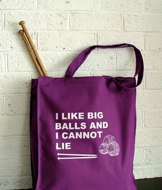 If you're a knitter or crocheter you would understand but it's also funny---Large Knitting Project Bag  geeky knitting by KellyConnorDesigns, $23.00