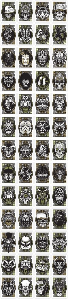 A Few could be Tattoo Ideas ~playing cards 3d Design, Game Design, Illustration Art, Illustrations, Graffiti, Art Anime, Skull And Bones, Memento Mori, Grafik Design