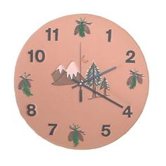 "Southwest Mountain Design Wall Clock - Available in 9"" wall or 12"" patio sizes."
