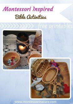 Montessori Inspired Bible Activities for Kids. | Montessori Nature