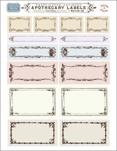 Vintage framed ornate labels