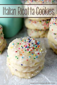 These Italian Ricotta Cookies are super soft and absolutely delicious. They are sure to become a favorite!