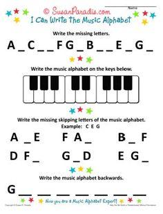 I Can Write The Music Alphabet