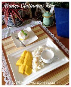 Thai Mango Glutinous Rice Dessert (Khao Niaow Ma Muang, 泰国芒果糯米饭) #guaishushu #kenneth_goh  #Thai_mango_glutinous_rice  #泰国芒果糯米饭