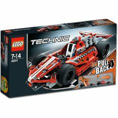 LEGO Technic Race Car 42011 by LEGO. $32.44. LEGO Technic Race Car  42011. 158 pieces.. Release the pull-back motor and tear up the track!The super-fast, super-sleek, super-cool Race Car is the perfect introduction to the exciting world of LEGO Technic. This realistic 2-in-1 street racer features easy-to-follow instructions, colorful styling and a unique motor just pull back, release and watch it fly! Have hours of fun racing to the finish line! For an even more action-pa...