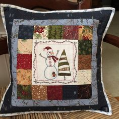 Christmas Patchwork Pillows | A Quilting Life - a quilt blog