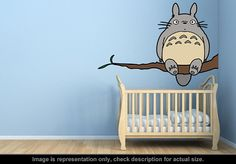 Totoro Inspired  Totoro Tree Wall Art Applique Sticker by carl895