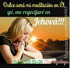 33 A Jehová cantaré en mi vida; A mi Dios cantaré salmos mientras viva.  34 Dulce será mi meditación en él; Yo me regocijaré en Jehová. Salmos 104:33-34 Meditémos en todo momento en el Señor, en Él conseguimos El Alimento Espiritual que todos necesitamos!!! Bendiciones!!! 🙏👣🌹Feliz inicio de semana
