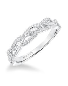 Diamond Braided Wedding Band to Match 31-V682. Available in Platinum, 18K White or Yellow Gold, 14K White or Yellow Gold or Palladium.