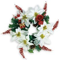 Floral Craft: Christmas Poinsettia Wreath at Deals