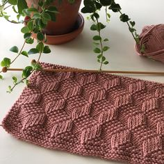 Free Knitting Pattern for Stack Up Blocks Blanket - Afghan knit in a tumbling bl.