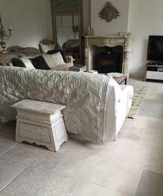 Grey stone floor