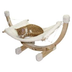 Cat Hammock Siesta White Spruce Natural Wooden Frame Swing Relax Plush Comfy Bed for sale online Modern Cat Furniture, Pet Furniture, Furniture Design, Pet Rats, Pets, Cosy Bed, Cat Hammock, Kitten For Sale, Decoration Originale