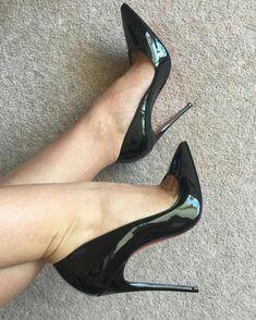 High Heel Boots, High Heel Pumps, Pumps Heels, Stilettos, Extreme High Heels, Black High Heels, Talons Sexy, Black Stiletto Heels, Pantyhose Heels