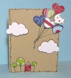 Prepárate para el día de San Valentín creando unas hermosas tarjetas con figuras de corazón cortadas en papel o cartulina. Además también p...