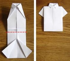 Money Origami Shirt Folding Instructions LOVE THIS! Watson Jepsen reminds me of the louis vuitton display we saw! Origami Shirt, Money Origami, Origami Paper, Origami Dress, Easy Origami, Origami Folding, Origami Tutorial, Origami Boxes, Dollar Origami