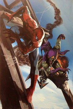 SpiderMan/GreenGoblin showdown!! Oh it's ON!!!