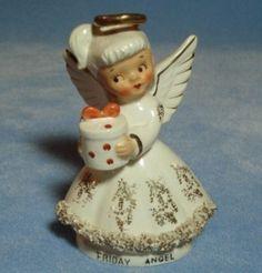 "Vintage Norcrest Days of the Week ""Friday"" Angel Figurine (09/30/2011)"