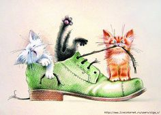 35 ideas funny cats painting gatos for 2019 I Love Cats, Crazy Cats, Cool Cats, Animals Watercolor, Cute Cat Drawing, Gatos Cats, Photo Chat, Animal Drawings, Cat Art